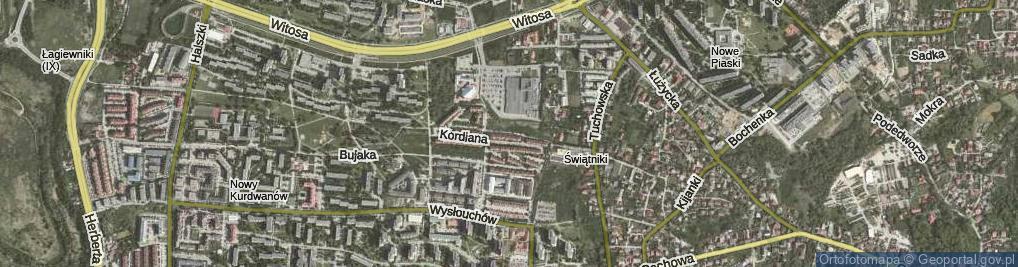 Zdjęcie satelitarne Kordiana ul.