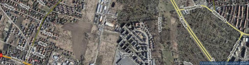 Zdjęcie satelitarne Kopańskiego Stanisława, gen. ul.