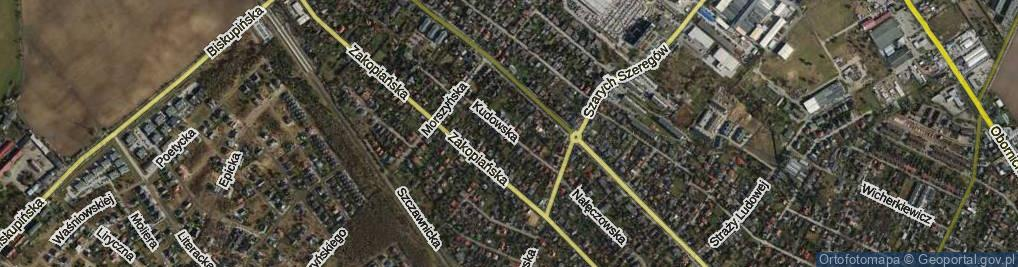 Zdjęcie satelitarne Kudowska ul.