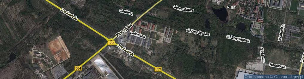 Zdjęcie satelitarne Lechonia Jana ul.