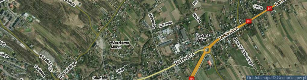 Zdjęcie satelitarne Masarska ul.