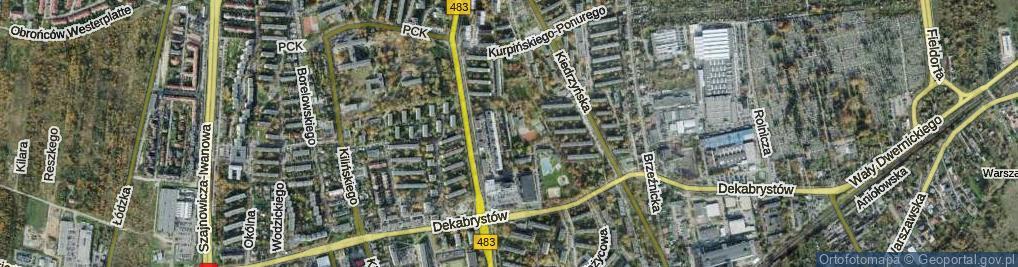 Zdjęcie satelitarne Michałowicza ul.