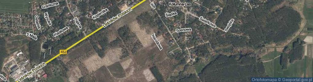 Zdjęcie satelitarne Narodowa ul.