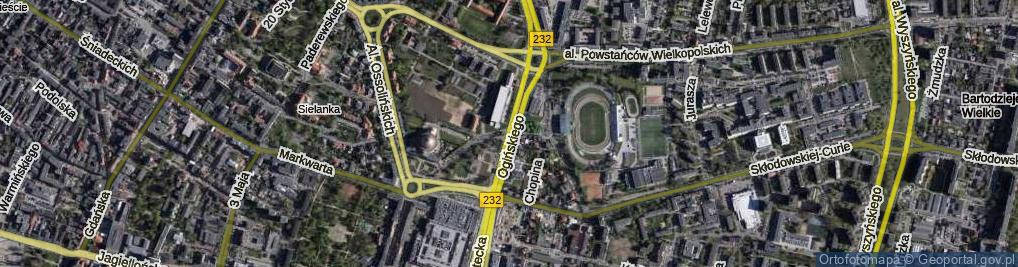 Zdjęcie satelitarne Ogińskiego Michała Kleofasa ul.