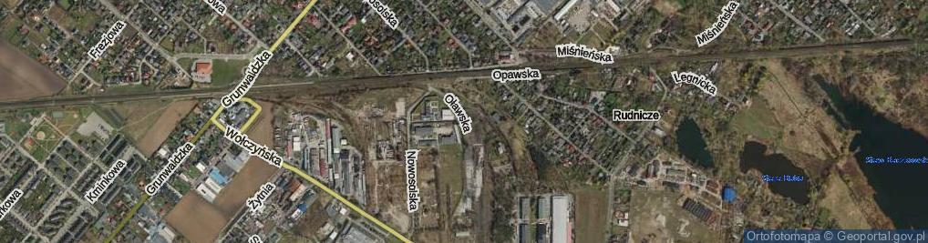Zdjęcie satelitarne Oławska ul.