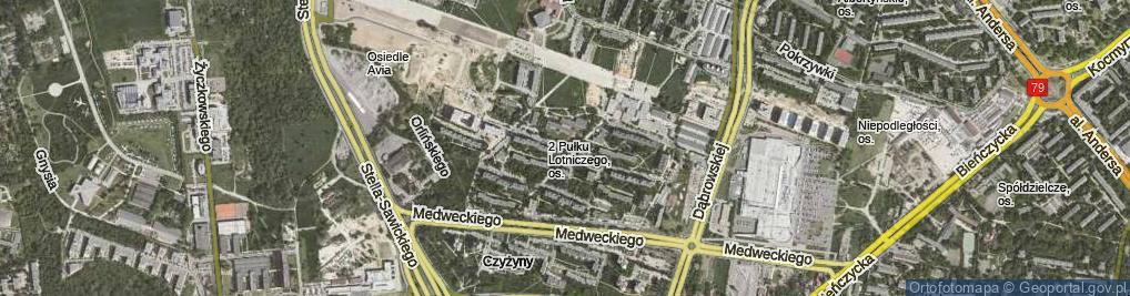 Zdjęcie satelitarne Osiedle 2 Pułku Lotniczego os.