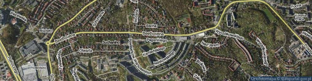 Zdjęcie satelitarne Paganiniego Niccolo ul.