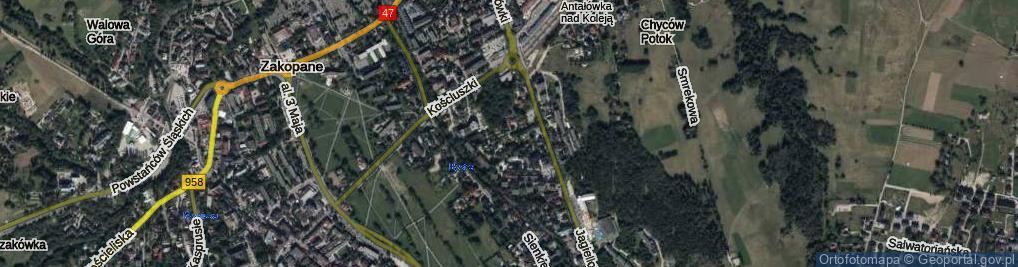 Zdjęcie satelitarne Piaseckiego ul.