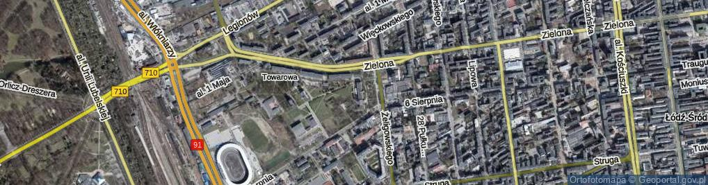 Zdjęcie satelitarne Plac Hallera Józefa, gen. pl.