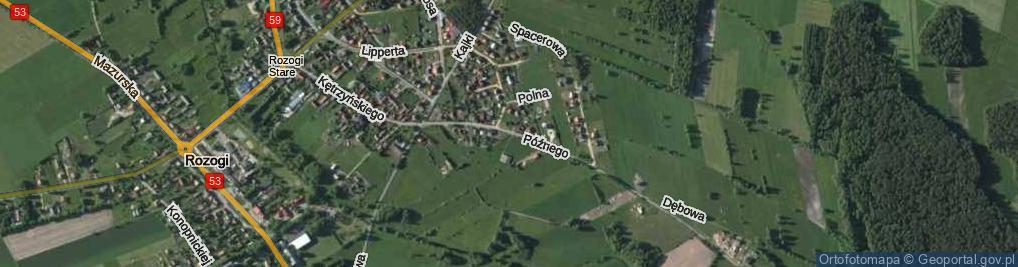 Zdjęcie satelitarne Późnego Waltera ul.