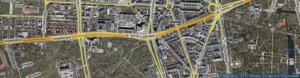 Zdjęcie satelitarne Rondo Jazdy Polskiej rondo.