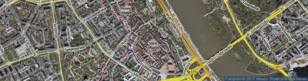 Zdjęcie satelitarne Rynek Starego Miasta ul.