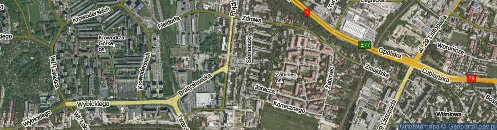 Zdjęcie satelitarne Siemaszki Kazimierza, ks. ul.