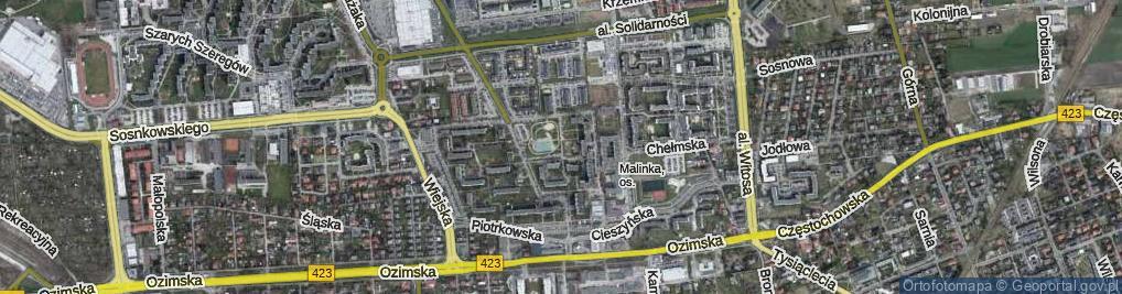 Zdjęcie satelitarne Sieradzka ul.