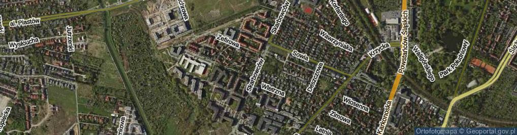 Zdjęcie satelitarne Skarbowców ul.