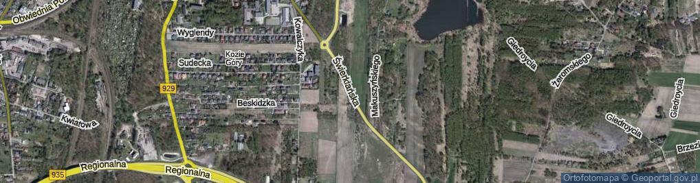 Zdjęcie satelitarne Świerklańska ul.