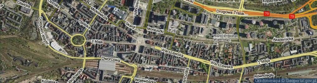 Zdjęcie satelitarne Teatralna ul.