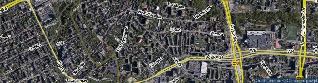 Zdjęcie satelitarne Ugory ul.