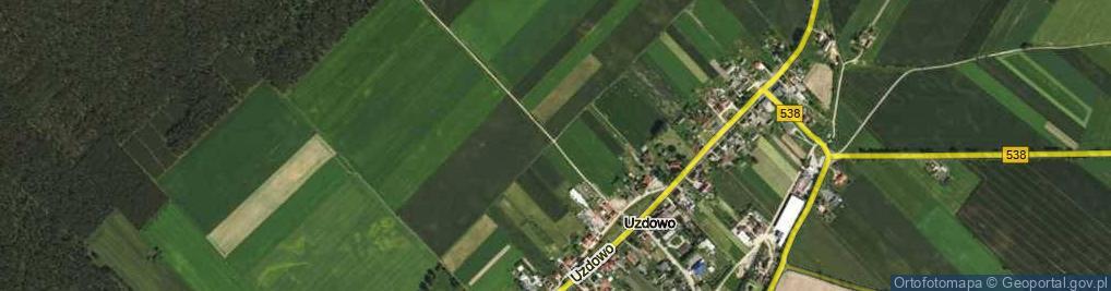 Zdjęcie satelitarne Uzdowo ul.