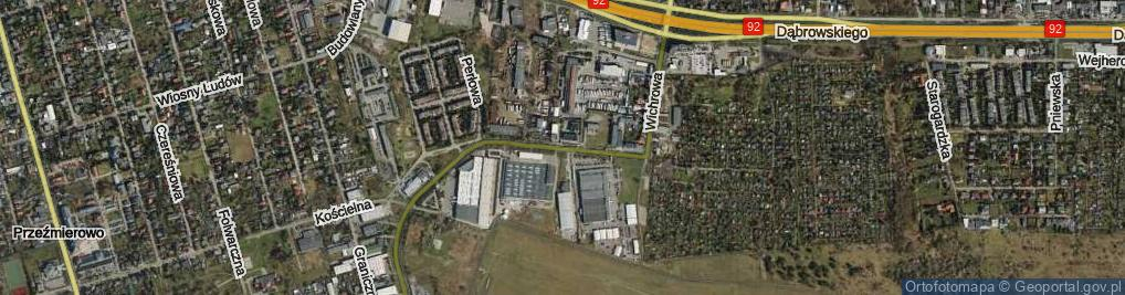 Zdjęcie satelitarne Wichrowa ul.