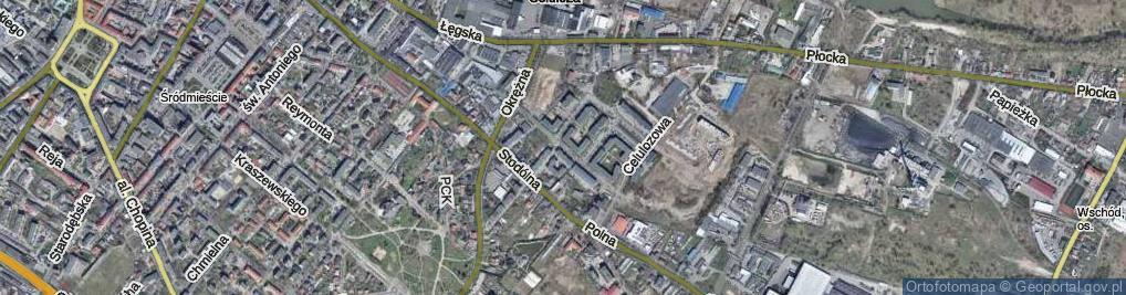 Zdjęcie satelitarne Zagajewskiego Stanisława ul.