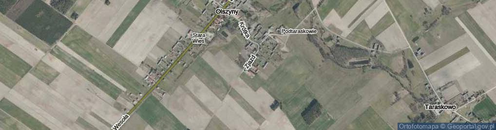 Zdjęcie satelitarne Zjazd ul.