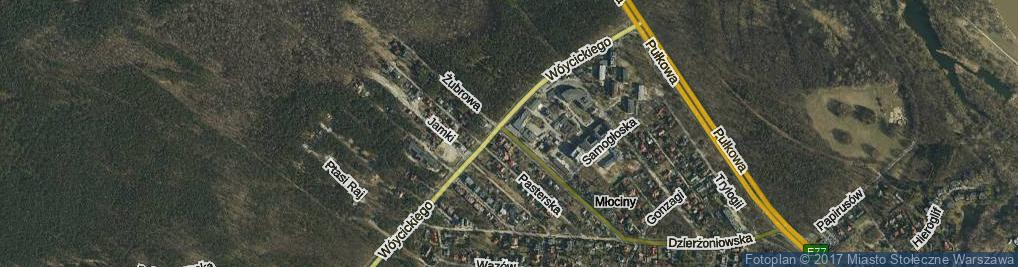 Zdjęcie satelitarne Żubrowa ul.